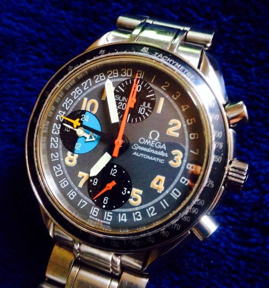 9fa65c74bb8 Omega Speedmaster Day Triple Date Crono 8 Ponteiros Mk 40 - R  8.500 ...