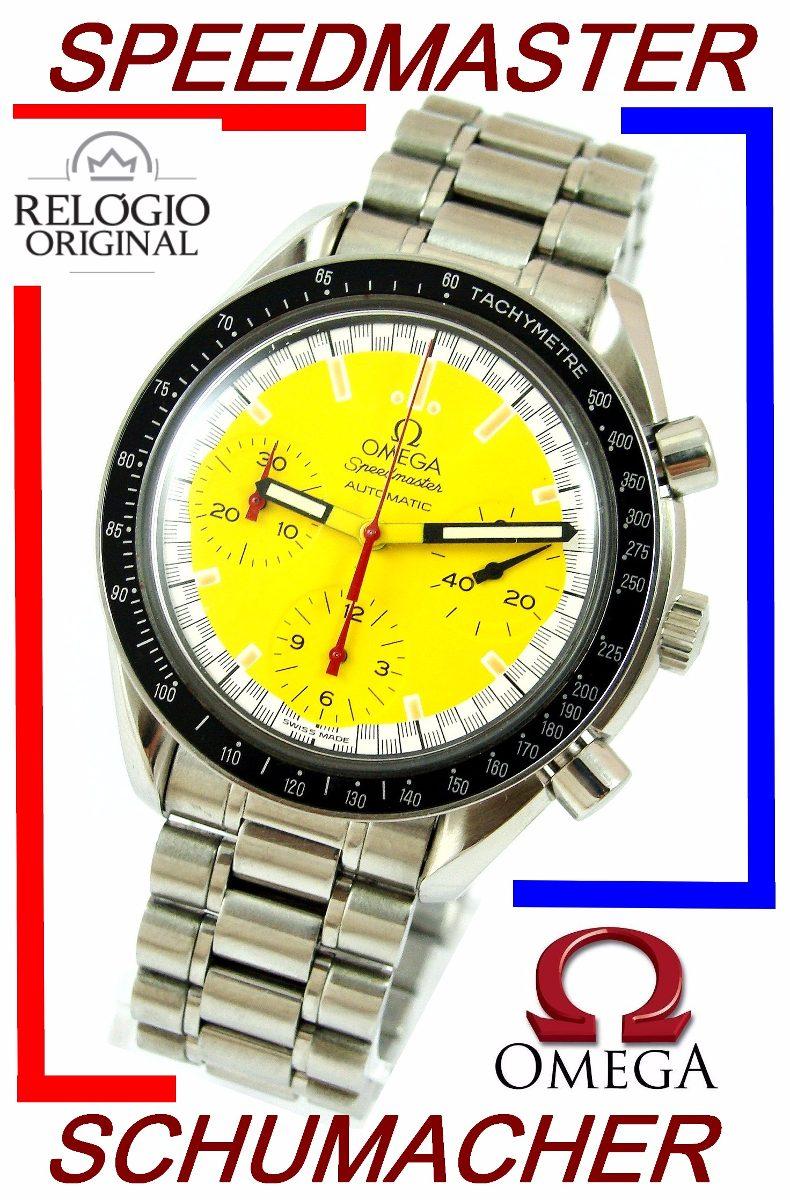 14e0c3e80da omega speedmaster schumacher amarelo revisado autêntico! Carregando zoom.