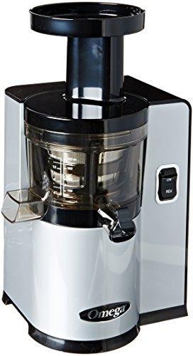 omega vert slow juicer vsj843qs, versión cuadrada, plata