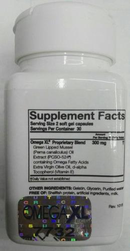 omega xl cápsulas x60 x 4 frascos