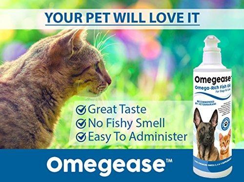 omegaase omega 3, 6 amp; 9 aceite de pescado para perros y