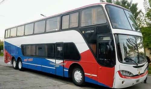 omnibus doble piso volvo busscar 2004 60 asientos.