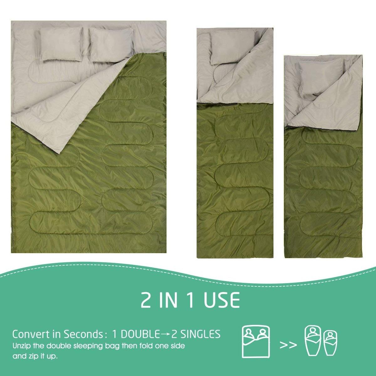 Omorc Sleeping Bag Double Lightweight Backng