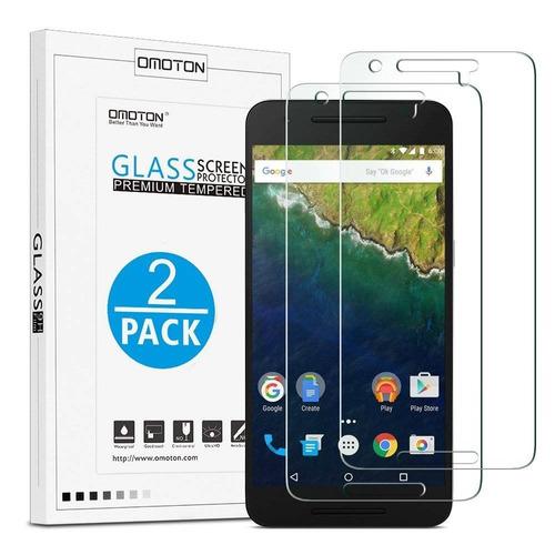 omoton nexus 6p protector de pantalla [2 pack + envio gratis