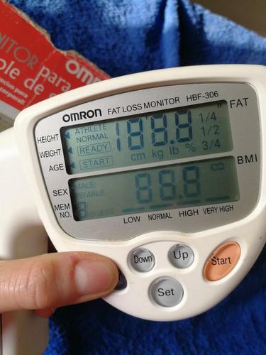 omron para medir imc y % grasa corporal