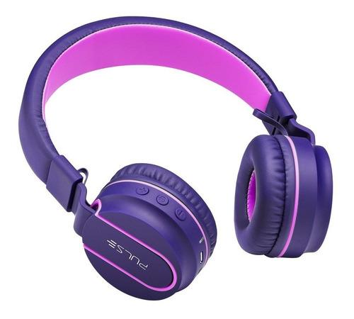on ear stereo áudio bluetooth rosa e roxo - ph217