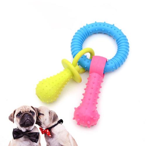 on goma anillo forma animal domestico molar juguete
