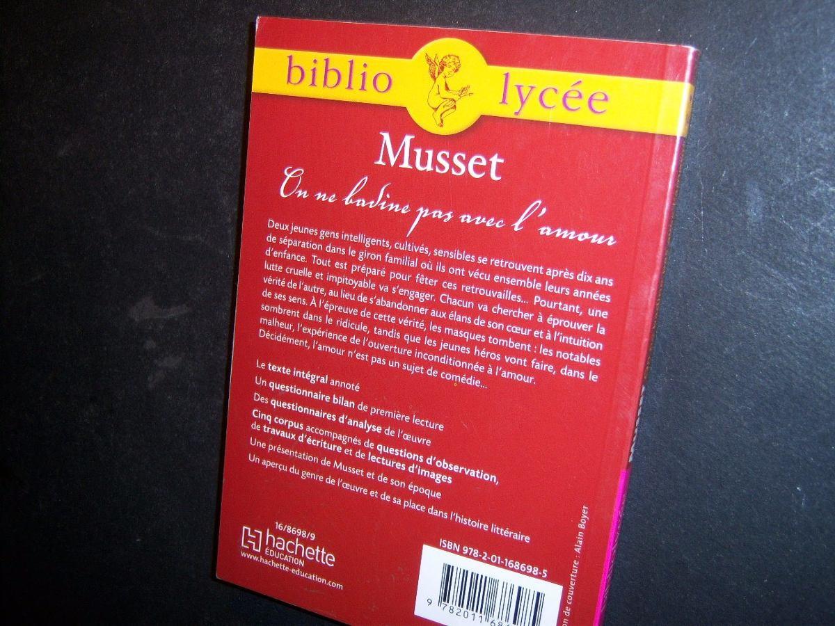 On Ne Badine Pas Avec Lamour Alfred De Musset Aab