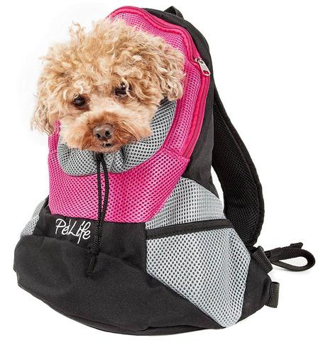 on-the-go supreme bark-pack de viaje mochila pet carrier