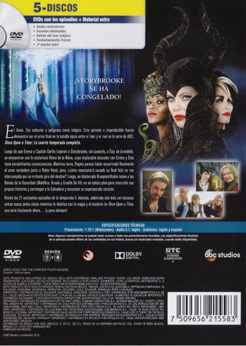 once upon a time cuarta temporada 4 cuatro dvd