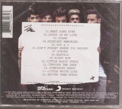 one direction - midnight memories cd nuevo un tesoro músical