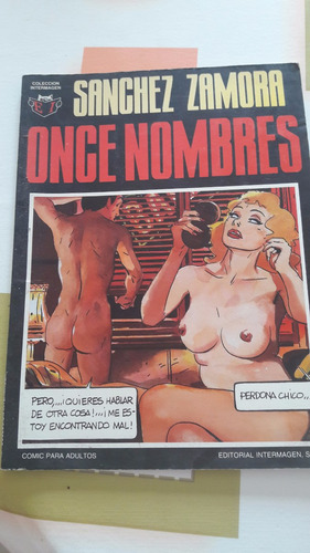 one nombres - cómic para adultos - sanchez zamora