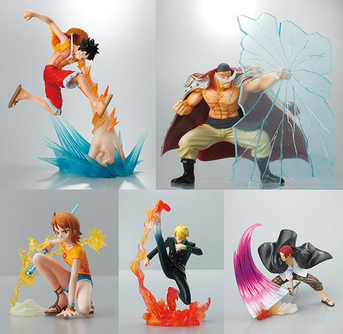 one piece attack motion vol2 set original japones