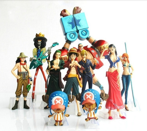 one piece lote 10pçs action figure
