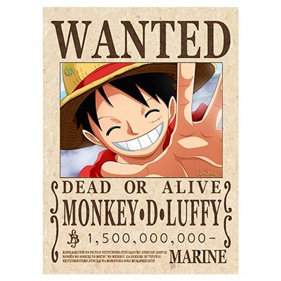 One piece poster luffy envio grati wanted 2018 busca poster en mercado libre - One piece wanted luffy ...