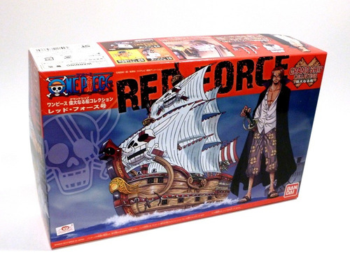 one piece shank red force maqueta model kit - bandai