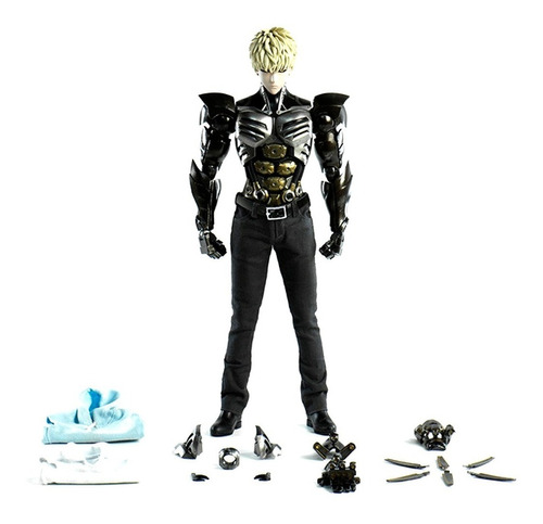 one punch man - genos figura 1/6 - threezero - robot negro