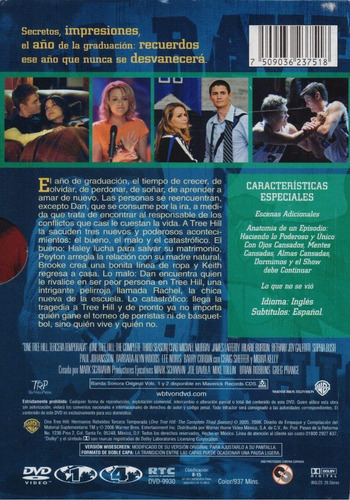one tree hill hermanos rebeldes tercera temporada 3 tres dvd