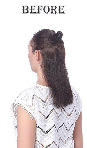 onedor clip cabeza recta 24 extensiones cabello sintético 7p