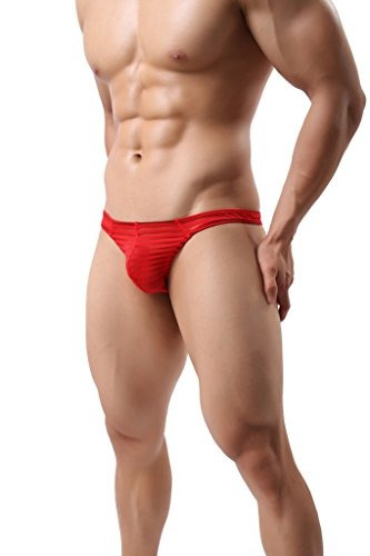 onefit hombres sexy see through mesh floral briefs negro