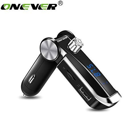 onever bluetooth transmisor fm mp3 dual usb microsd 12-24v