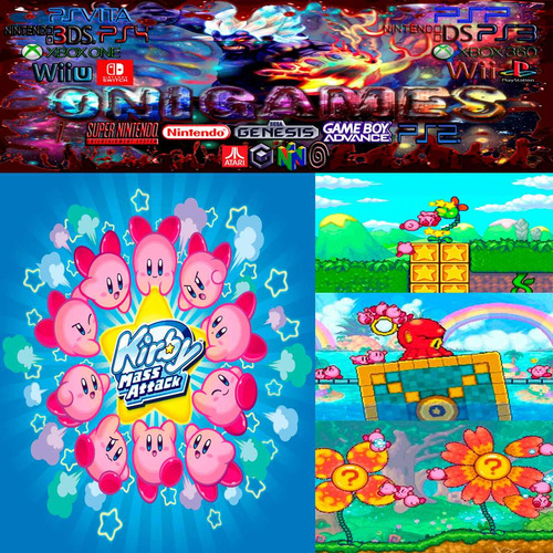 oni games - kirby mass atack nintendo ds