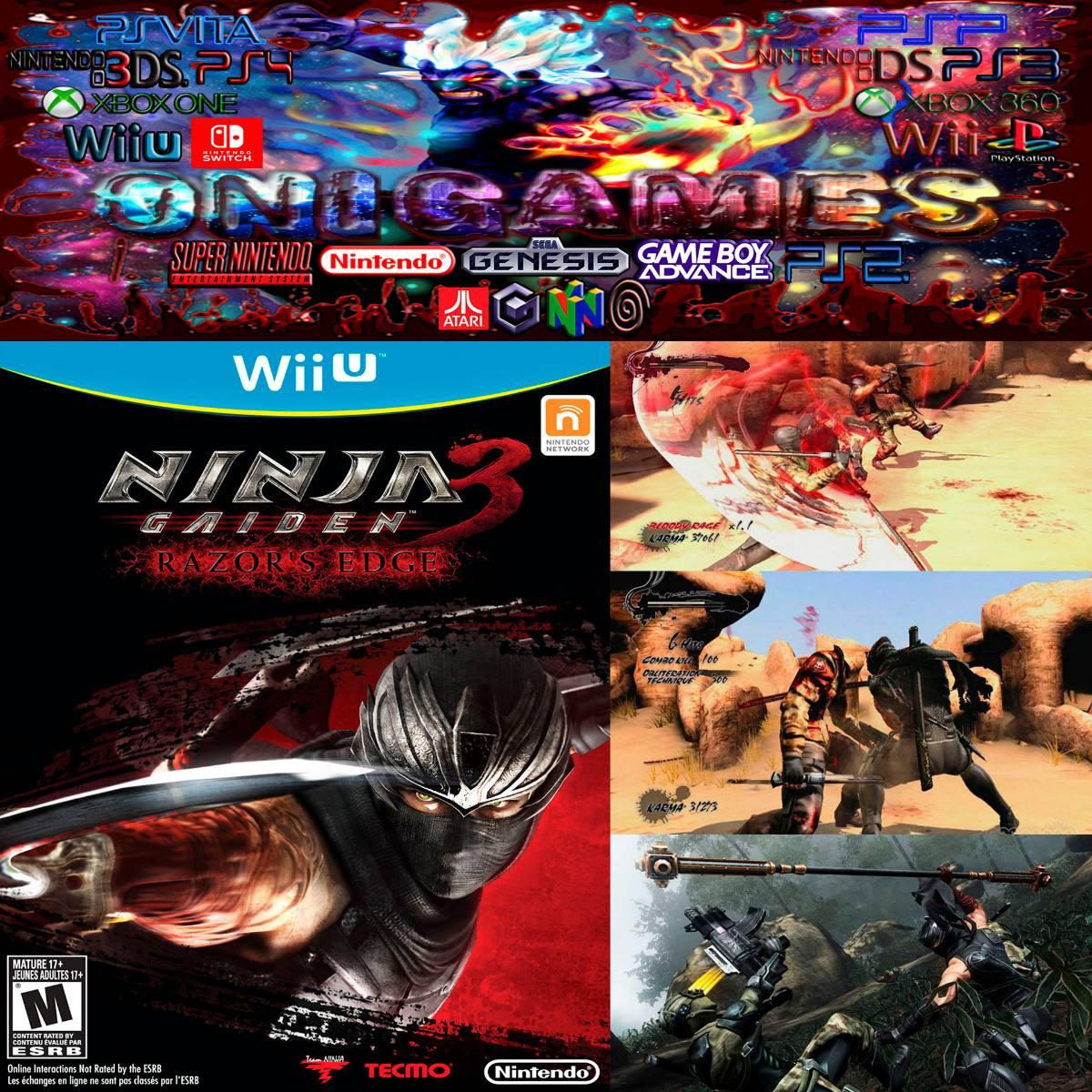 Oni Games Ninja Gaiden 3 Razor S Edge Wii U 2 500 00 En Mercado Libre