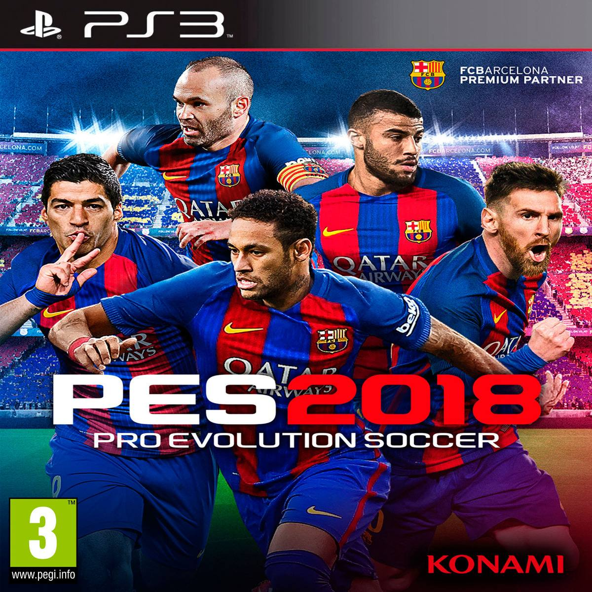 Oni Games - Pro Evolution Soccer 2018 (pes 2018) Ps3 - $ 2 450,00