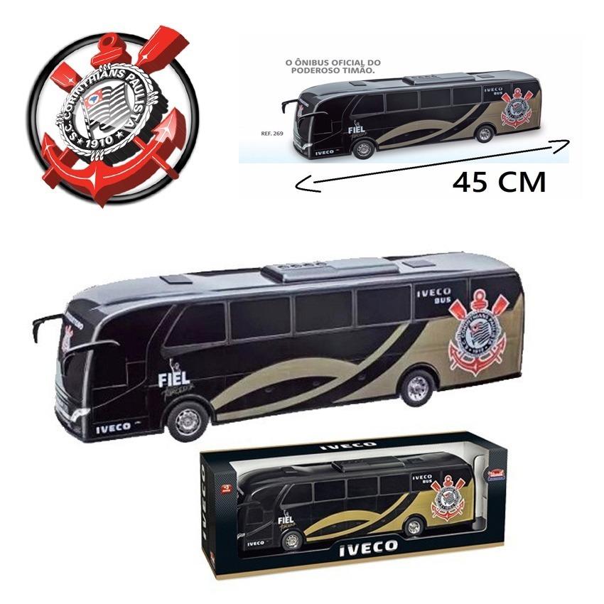 Onibus Brinquedo Miniatura Iveco Corinthians Fc Timão - R  59 16a9585ffd675