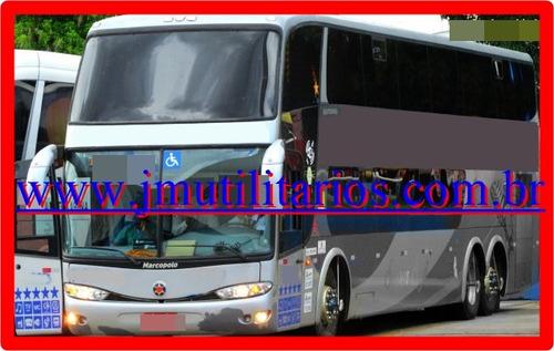 onibus dd 1800 g6 ano 2009 scania k124 54 lug jm cod.718