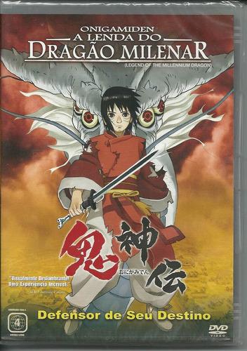 onigamiden - a lenda do dragão milenar - dvd novo orig. lacr