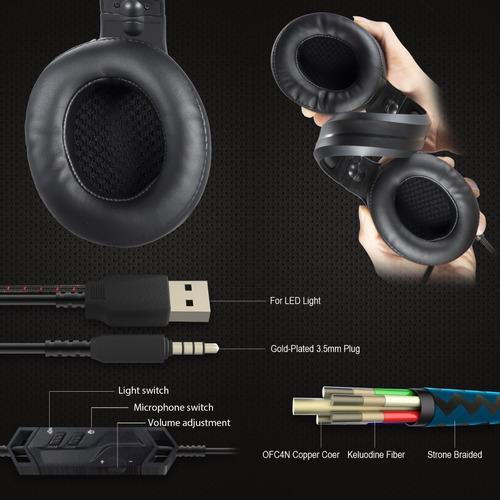 onikuma k9 auriculares para juegos estéreo