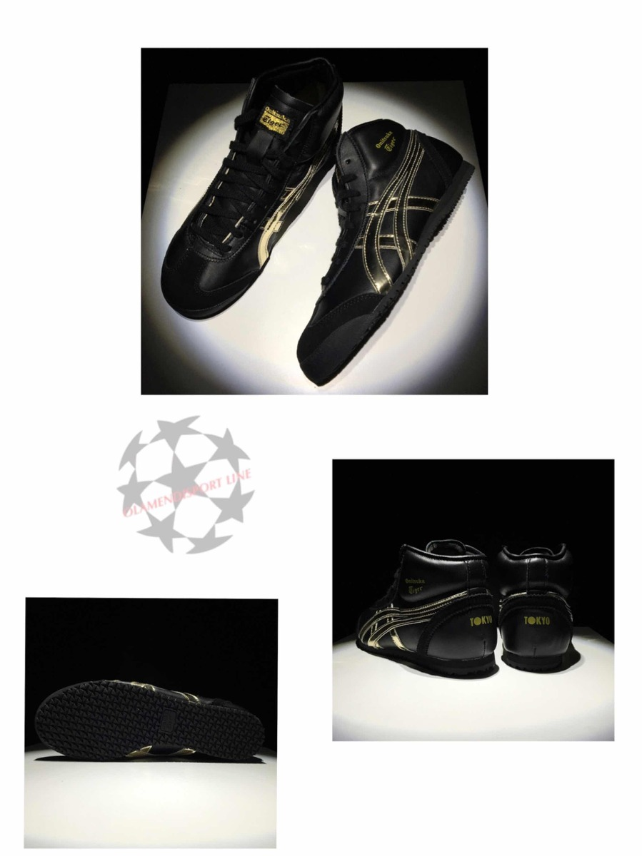 detailed look 4c32d 11d48 Onitsuka Tiger Mid Black / Gold