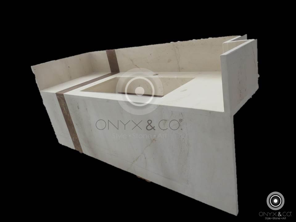Onix marmol lavamanos cubiertas para mesa somos for Lavamanos de marmol
