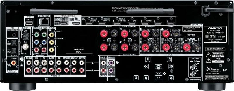 Onkyo Tx-nr646 7.2ch Dolby Atmos Network Av Receiver Dts:x ...