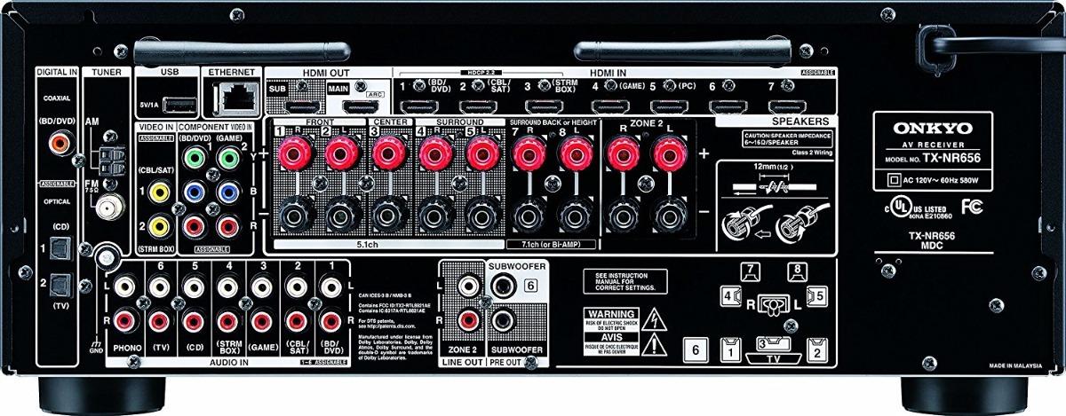 Onkyo Tx-nr676 7 2ch Dolby Atmos Network Av Receiver