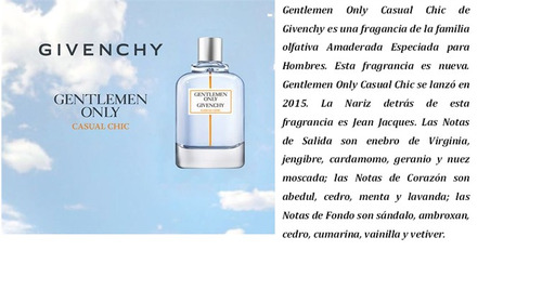 only casual chic gentlemen - givenchy - edt 100ml hombre