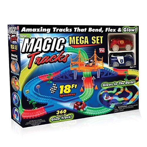 ontel magic tracks mega set con 2 led race