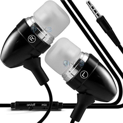 onx3 (negro) zte zmax pro aluminio en auriculares / auricula