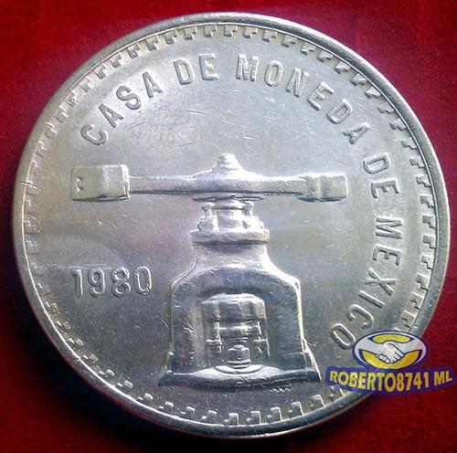 onza de troy plata pura año 1980