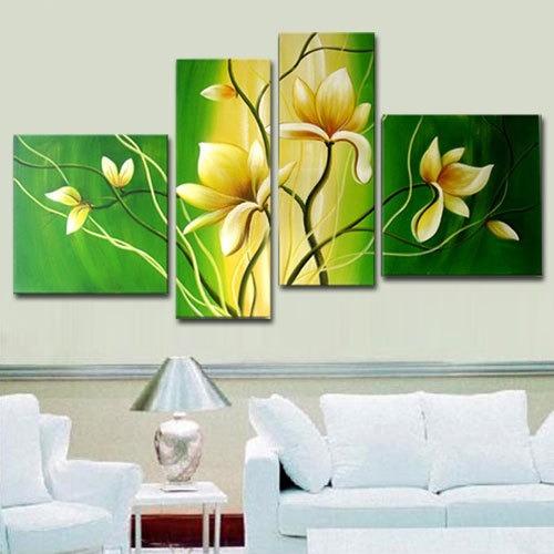 Opci n b cuadros sala comedor verde y beige 2 for Cuadros modernos para decorar cocinas