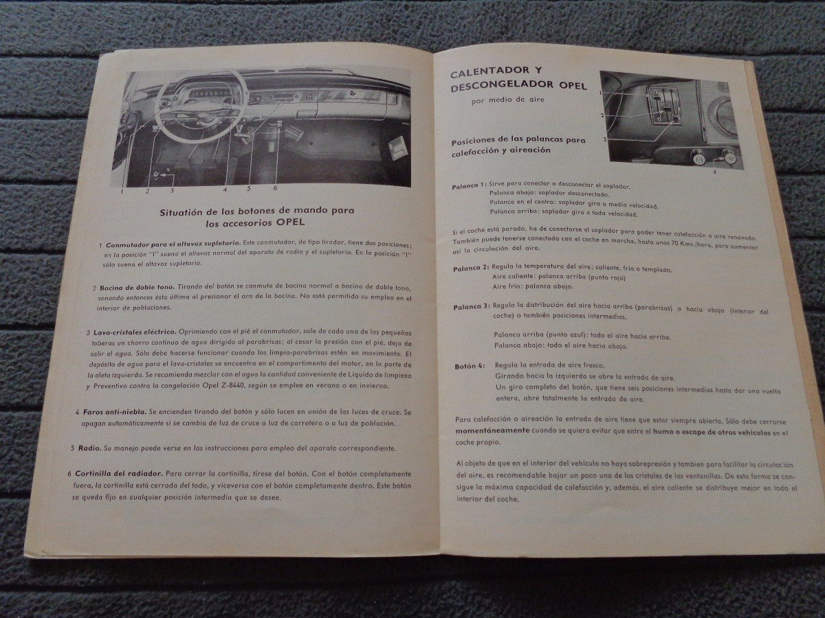 opel kapitan 1959 libro manual original 2 000 00 en mercado libre rh articulo mercadolibre com ar 1940 Opel Kapitan Opel Rekord