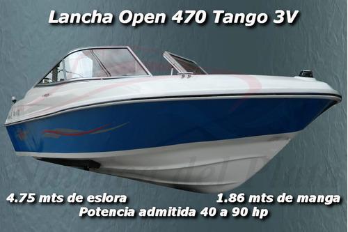 open deportiva 4.75 mt nueva motor mercury 4t 50 hp ecologic