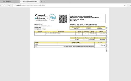 opensig software de factura electronica + pos