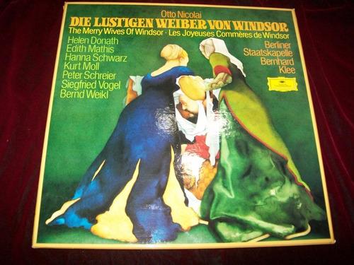 opera nicolai alegres comadres windsor caja 3 lp dg 1976