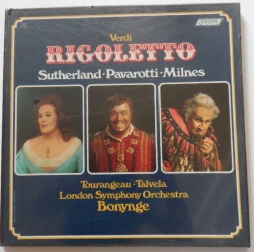 ópera verdi rigoletto nuevo caja 3 discos lp vinil pavarotti