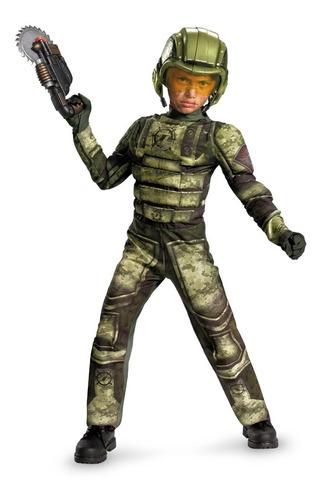 operation rapid strike - disfraz c/músculos soldado 20917g