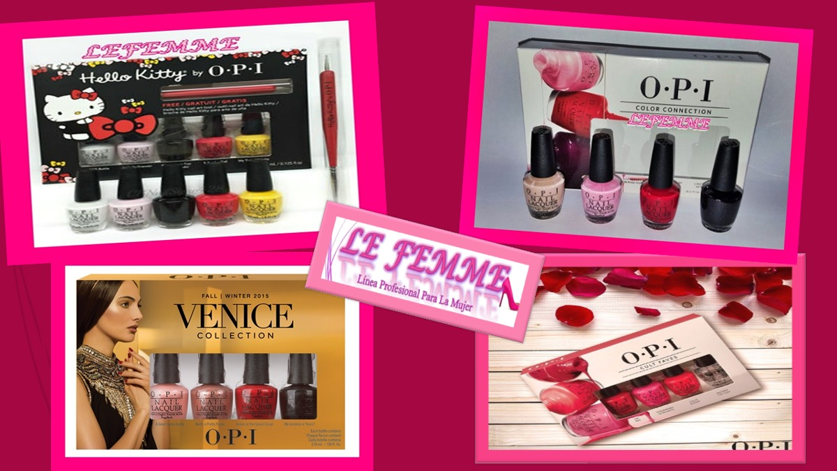 Opi Set 4 Mini Esmaltes Color Connection Lefemme Flores - $ 399,00 ...