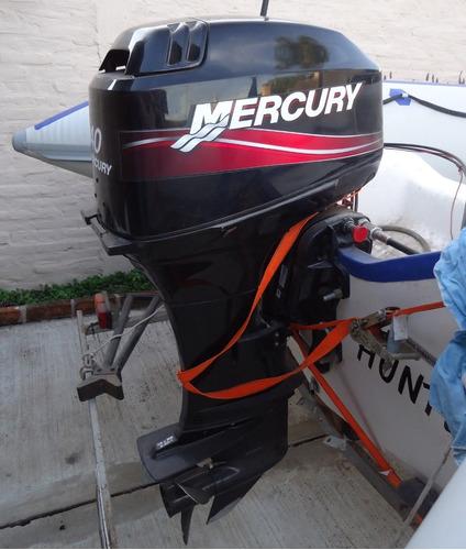 oport. solo 17 horas. semirrigido viking con mercury 40 hp