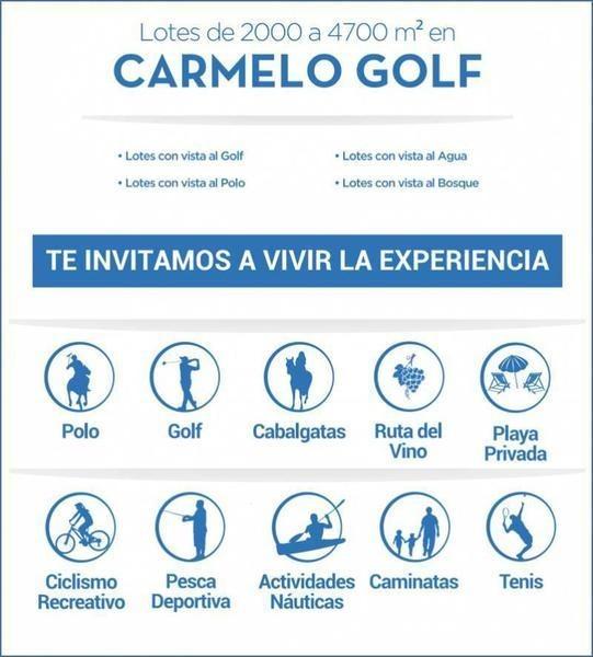 oportunida!!! lote en venta en carmelo golf sector polo